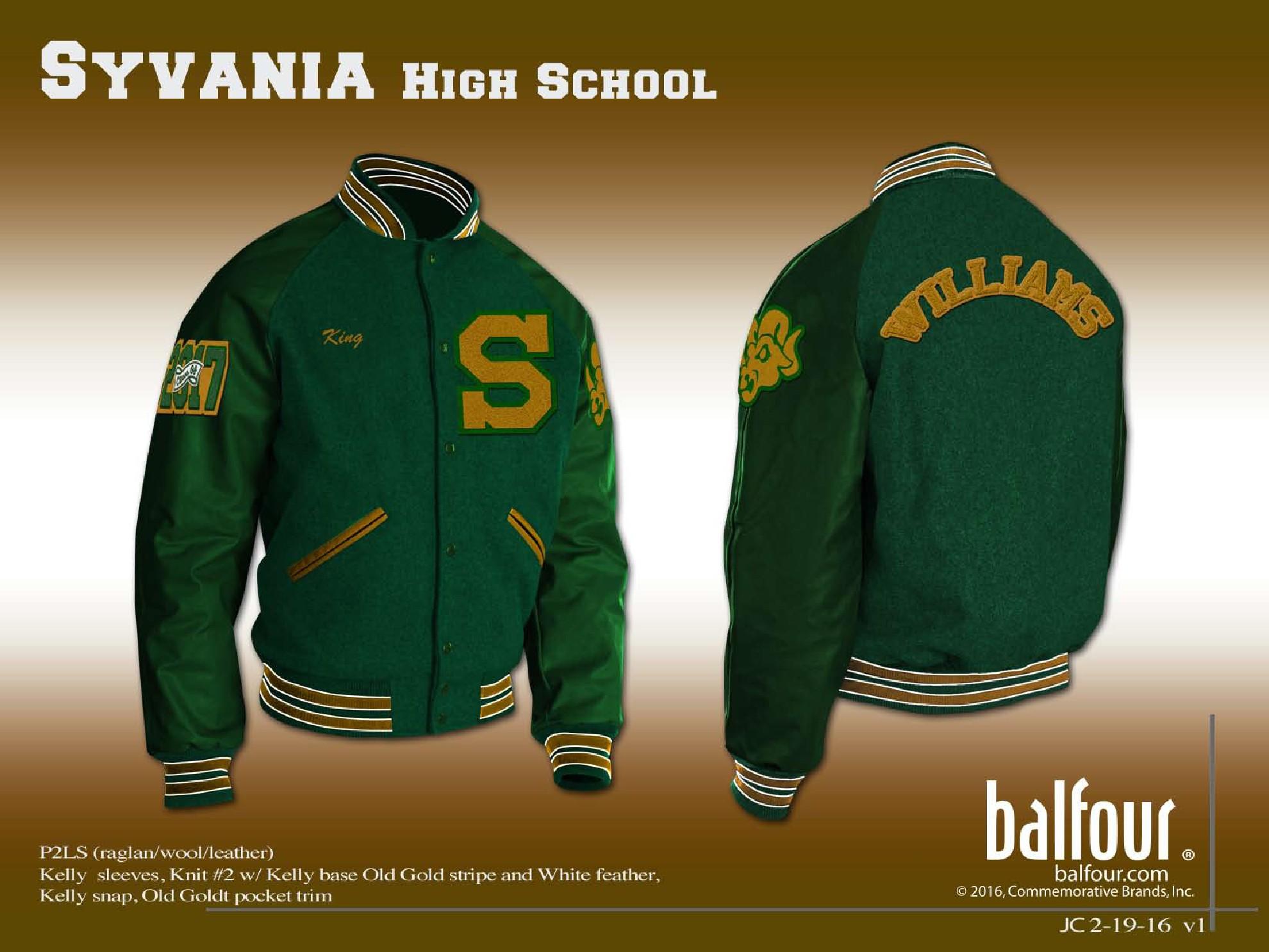 sylvania high Letter Jacket