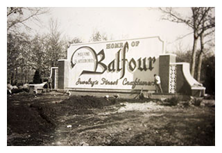 Historic Balfour sign