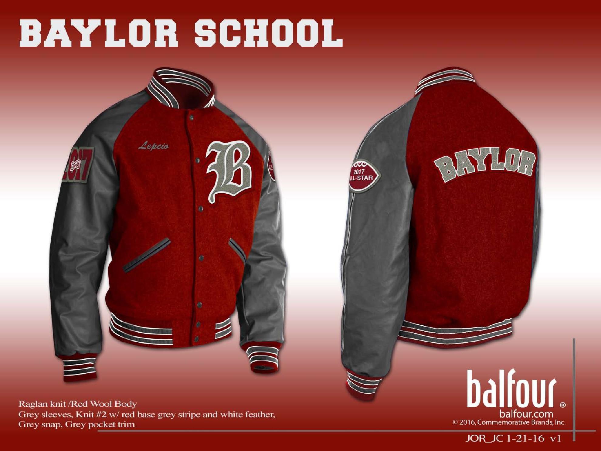 baylor school Letter Jacket