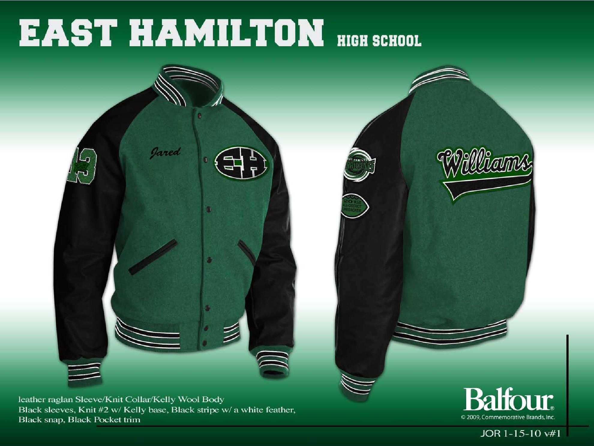 east hamilton Letter Jacket