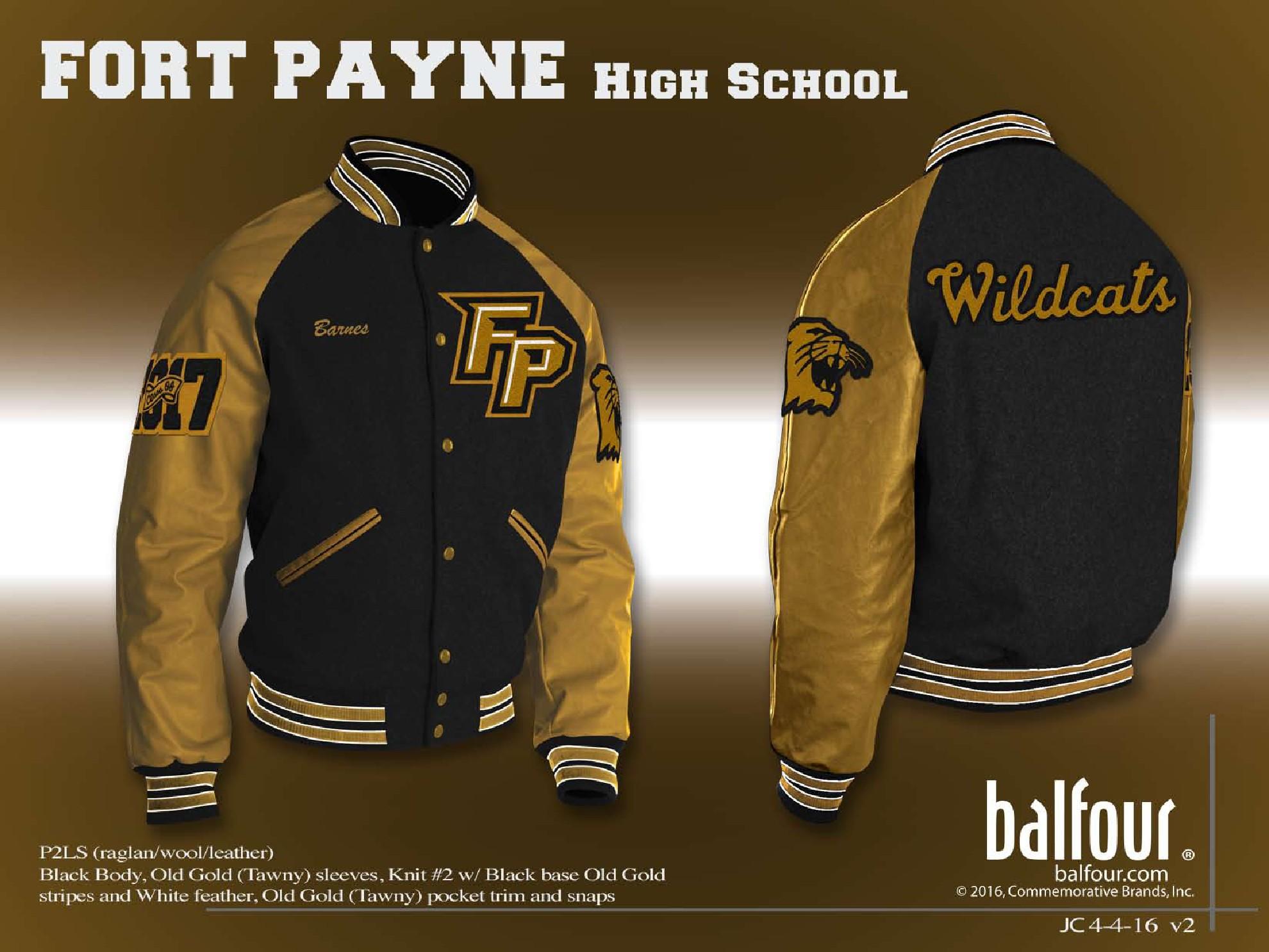 ft payne Letter Jacket