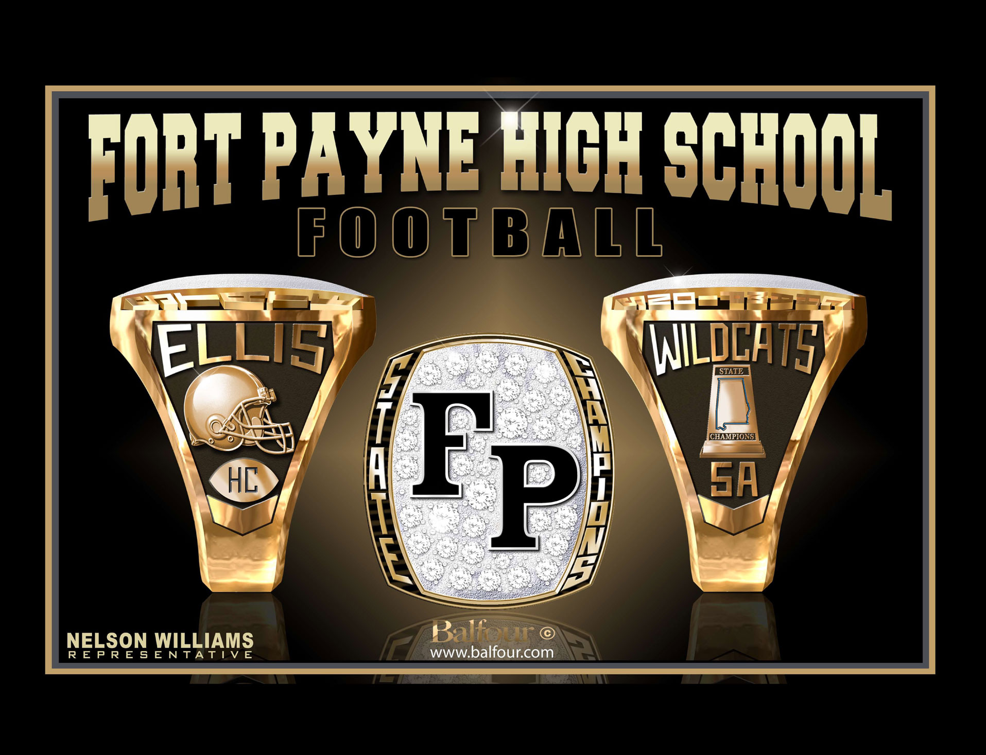 fort payne football high school championship rings