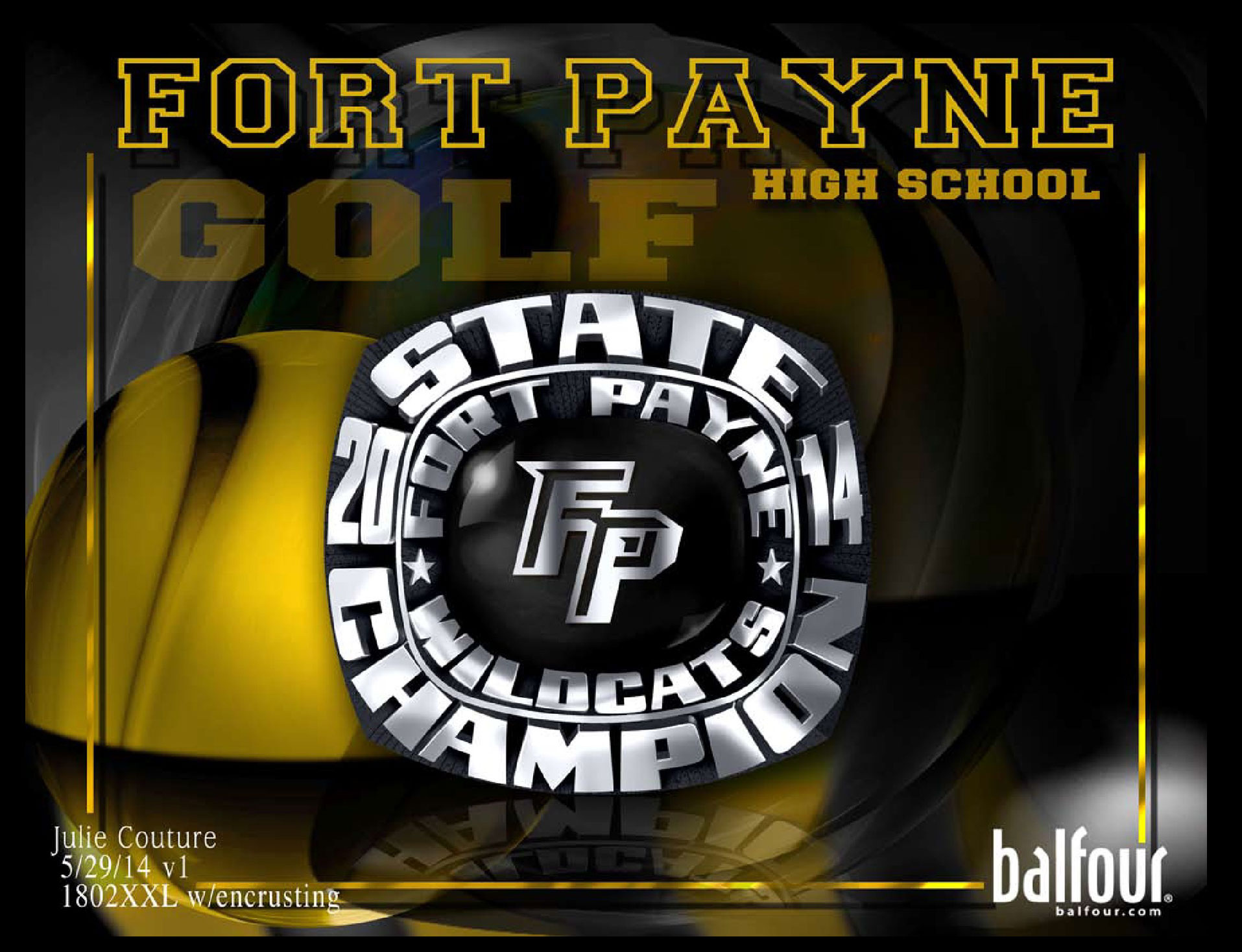 fort payne golf high school championship rings
