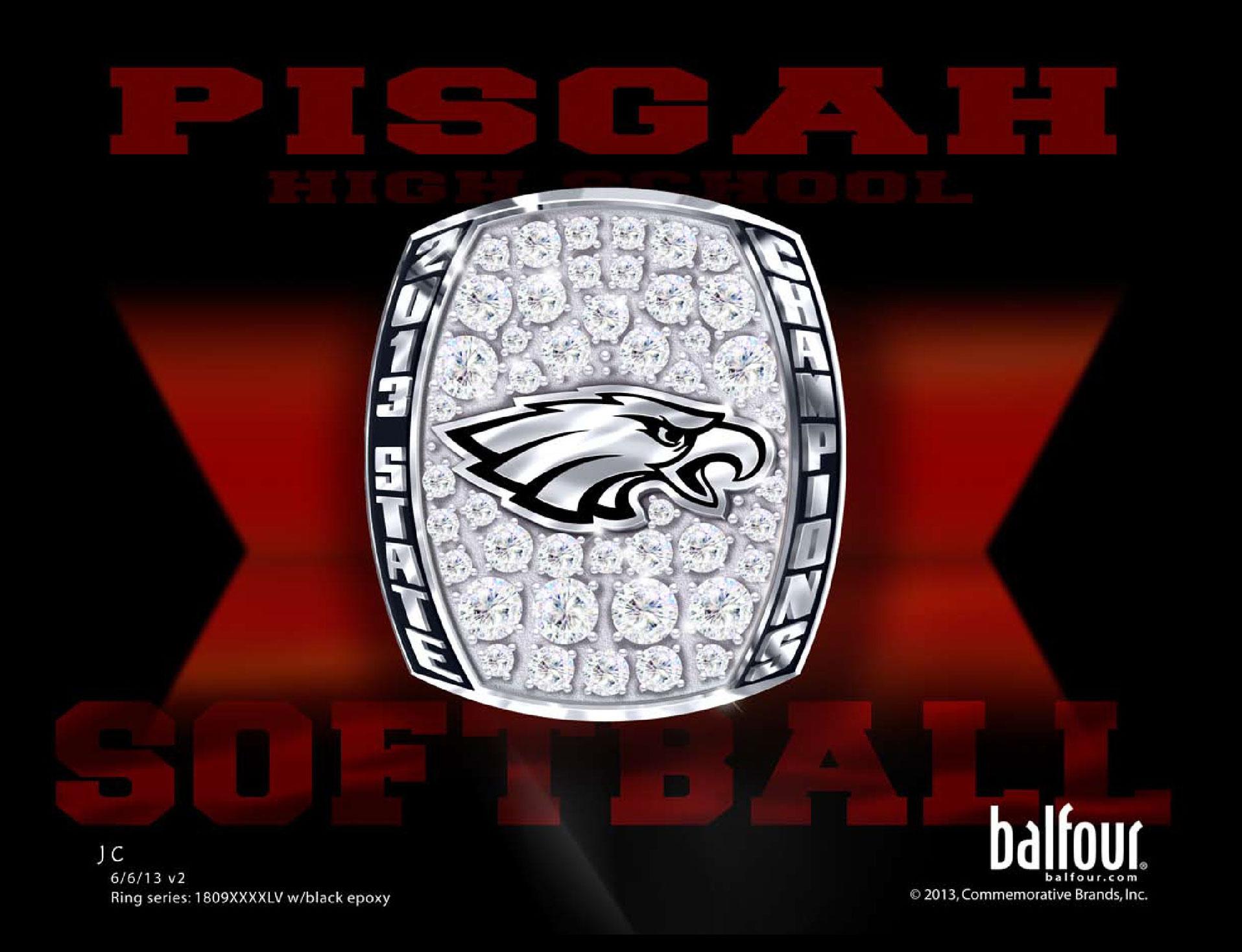 pisgah softball high school championship rings