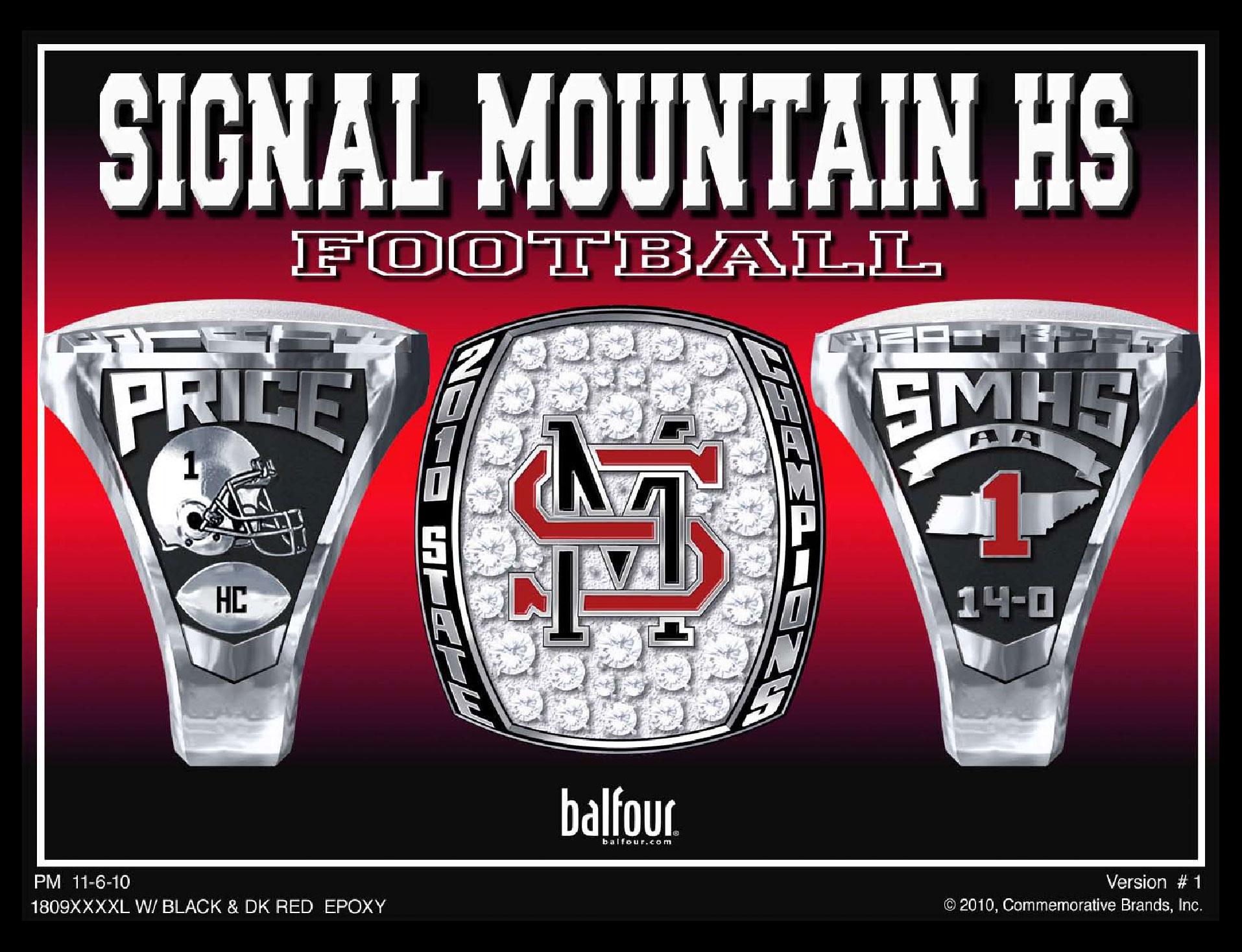 signal mountain high school championship ring