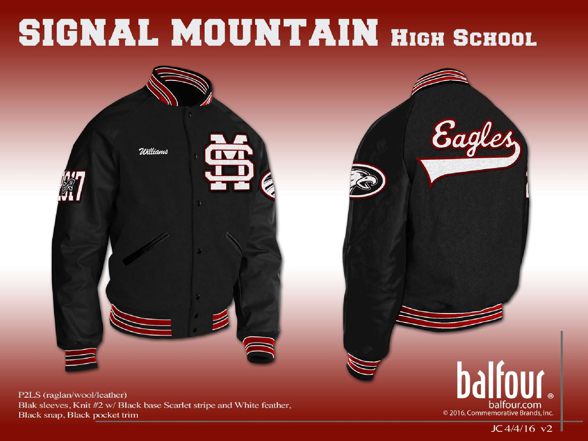 signal mountain Letter Jacket